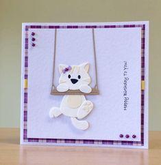Birthday Card, Handmade - Cute Cat / Kitten Birthday Card For Women/ Men / Children/ Girls/ Boys/ Mum/ Dad/ Son/ Daughter - Cat Lovers Card Dog Cards, Kids Cards, Baby Cards, Birthday Cards For Women, Handmade Birthday Cards, Cat Birthday Cards, Marianne Design Cards, Get Well Cards, Animal Cards