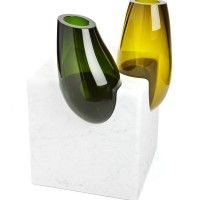 Designer: Emmanuel Babled Studio - Vases made from glass and marble called Osmosi