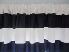 Curtain Valance Window Curtain Navy Blue and by CottageHomeCouture, $46.00 Etsy