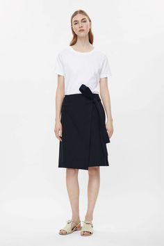 COS | Wrap-front cotton skirt