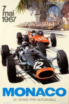 Poster for the 1967 Monaco Grand Prix.