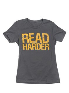 #ReadHarder t-shirt from #bookriot