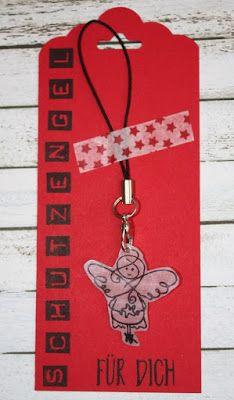 Zauberhaft-handgemacht, Schutzengel, Schrumpffolie, Labeler Alphabet, Anhänger Stanze, SU, Weihnachten, kleine Geschenke