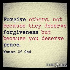 Withholding forgiveness hurts you more than it does them!