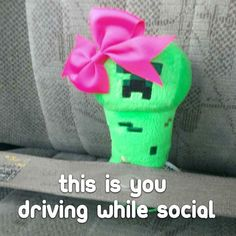 This is you driving while social. Any questions? Sure the bow is pretty but it will kill you. (Note: I was not driving when taking this photo.) Wow I do better ads than everyone. #creepiegoes #creeper #creepers #gaming #minecraftpe #love #minecraftonly #videogames #gamerguy #instagame #minecraftpc #fb #beautiful #instagood #game #cute #instagamer #video #instagaming #gamin #tw #textgram #texting #driving