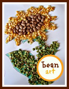 beans beans the magical craft supply? super cute craft ideas for kids! (kid craft monday) - A girl and a glue gun Cool Art Projects, Projects For Kids, Craft Projects, Crafts For Kids, Arts And Crafts, Craft Ideas, Preschool Projects, Kindergarten Activities, Preschool Activities
