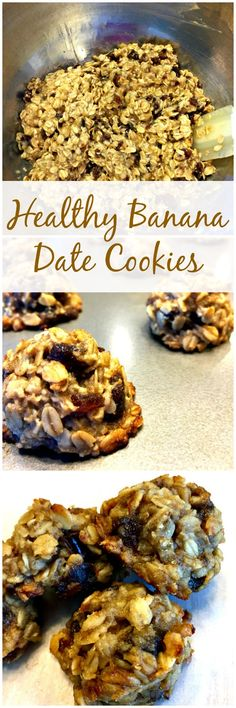 Healthy Banana Date Cookies are easy to make, delicious and nutritious. They're also moist and naturally sweetened with bananas and dates. No eggs or butter are used and oats are the only grain. So, they're dairy-free, gluten-free and vegan too!