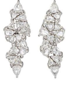 Monique Péan Atelier White Diamond Drop Earrings at Barneys New York