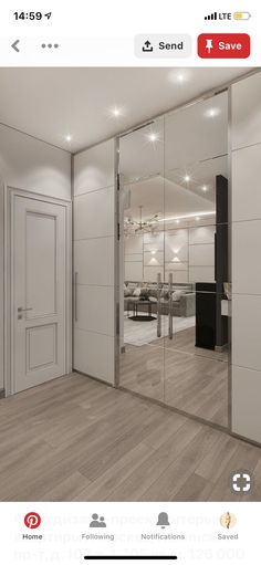 Photo design project of an apartment interior Moscow, Leninsky Prospect, building 105 sq. Wardrobe Door Designs, Wardrobe Design Bedroom, Closet Designs, Home Room Design, Interior Design Living Room, House Design, Simple Bedroom Design, Flur Design, Bedroom Cupboard Designs