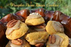 Pumpkin Pecan Raisin Cookies - I would probably skip the raisins.