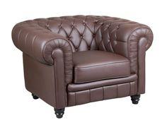 #Sofá #Chesterfield, 1 plaza capitoné marrón en polipiel , un estilo británico clásico que se adapta cualquier estilo.
