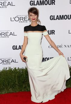 Angela Sarafyan in Black and White Silk - Every Gorgeous Look at Glamour's 2016 Women of the Year Awards - Photos