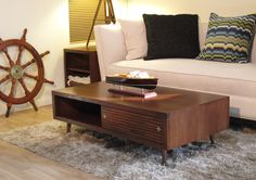mid century modern retro coffee table