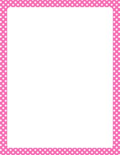 Printable hot pink and white polka dot border. Free GIF, JPG, PDF, and PNG downloads at http://pageborders.org/download/hot-pink-and-white-polka-dot-border/. EPS and AI versions are also available.