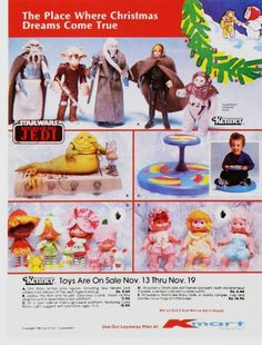 Vintage Toy Advertisements of the 1980s. Ian had the Star Wars toys & I had a sit n' spin & strawberry shortcake