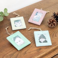 Set Of Four Vintage Frame Tree Decorations - picture frames £15