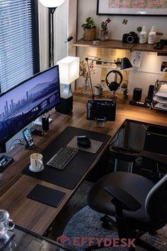 Workspace Design, Office Interior Design, Office Interiors, Bureau Design, Home Office Setup, Home Office Space, Office Workspace, Home Studio Setup, Office Ideas