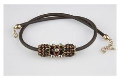 Kette, Halskette, Anhänger, braun von kreativrausch-kiel auf DaWanda.com