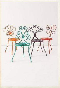 these would be so cute around a little garden table!