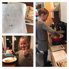 De dochter van Aletta maakt lasagne. Niet eens uit een van mijn kinderboeken, maar uit een grotemensenboek.