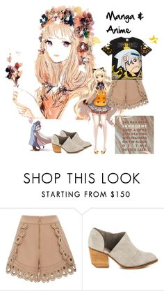 """manga & anime`"" by rosalindmarshall ❤ liked on Polyvore featuring self-portrait and Shellys"