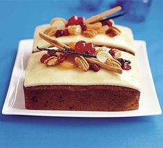 Mary Cadogan's lighter alternative to the traditional Christmas cake Cranberry, pecan and ginger