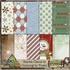 FREE ScrapAwhile At Studio4: Blog Train and Advent Calendar Freebies!