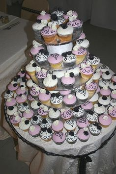 Different idea for a wedding cake on a budget...