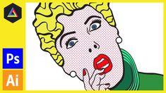 Create Roy Lichtenstein Style Pop Art  - Colouring  [Photoshop CS5]