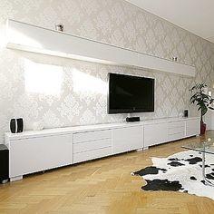 Ikea Besta Burs Wall Shelf - High Gloss White (One Unit Only) RRP $259