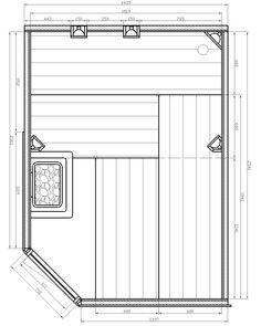 - Finn szauna - Novara Uszodatechnika – Medenceépítés és medence webshop Floor Plans, Floor Plan Drawing, House Floor Plans