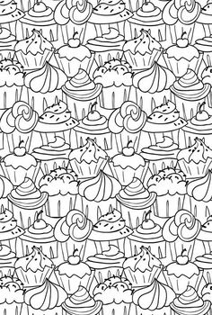 coloriage Differents cupcakes Coloring Pinterest ...
