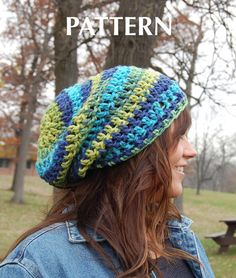 Another favorite: Super Easy Crochet Hat PATTERN, Simple Crochet Slouchy Beanie Adult Hat Pattern