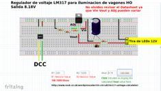 Fuente de alimentación para vagones de pasajeros H0 / N con alimentación DCC