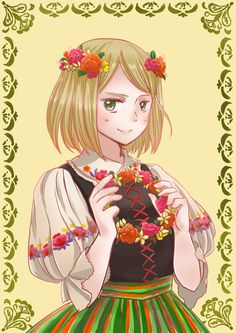 Poland hetalia<<<Told you Poland looks better in a dress than I do.