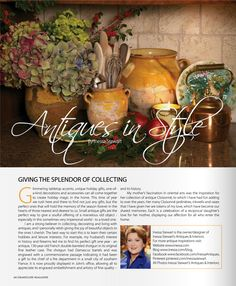 Antiques In Style - Inessa Stewart for GrandLuxe Magazine