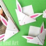 Easy Paper Bunny Bookmark Corner - adorable little Easter craft