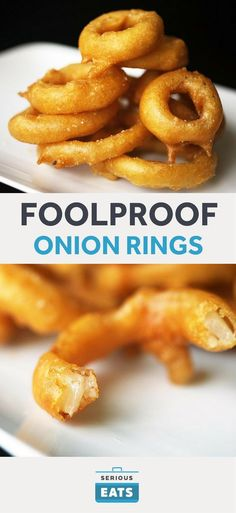 The Food Lab's Foolproof Onion Rings Recipe The crispest, lightest onion rings you'll ever taste. The Food Lab's Foolproof Onion Rings Recipe The crispest, lightest onion rings you'll ever taste. Vegetable Dishes, Vegetable Recipes, Onion Rings Recipe, Baked Onion Rings, Carnival Food, Carnival Eats Recipes, Catering, Food Lab, Onion Recipes