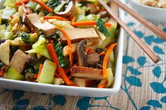 Bok Choy and Baked Tofu Stir-Fry in Ginger-Citrus Sauce--so quick if you have pre-baked tofu!