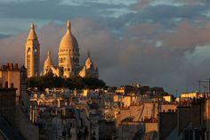 The Basilica of the Sacred Heart of Paris. Paris, Sacred Heart, Roman Catholic, San Francisco Skyline, Taj Mahal, To Go, France, Adventure, City