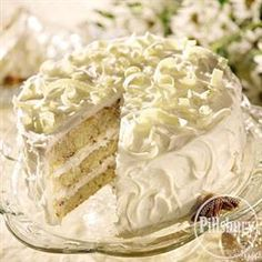 White Chocolate Pecan Cake from Pillsbury® Baking #ValentinesDessert