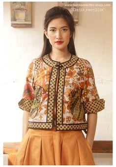 Muslim Fashion, Ethnic Fashion, Hijab Fashion, African Fashion, Boho Fashion, Womens Fashion, Fashion Design, Batik Blazer, Blouse Batik