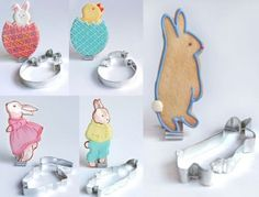 Aren't these the best Easter cookie cutters?  Find them (or the cookies!) at bakedideas.com/store/