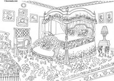 Facebook Google+ Pinterest Twitter Facebook Google+ Pinterest Twitter A classy Victorian-style bedroom. Like this coloring page? Click on the link belowtodownload aFREEhigh-resolution version that you can print out and color.