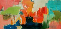 Carolyn O'Neill  Summer Rain - 2014  Oil on canvas  76 x 153 cm