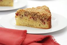 This light cake is topped with rhubarb, fresh ginger and a crumb made with oat…
