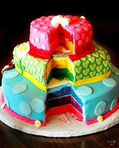 Rainbow Cake - by Babcakes @ CakesDecor.com - cake decorating website