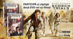 Câștigă doua DVD-uri cu filmul Maze Runner: The Scorch Trials -  Întrebarea concursului (01.02.2016 - 10.02.2016)  De cine este distribuit filmulMaze Runner: Th...