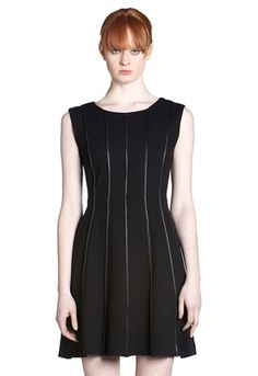 Bailey 44 Deep Web Leather Piping fit & flare dress is an awesome dress that will take you to work and out to dinner.