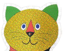 Bright  Calico Cat and Mouse DIY Stuffed Toy Fabric by MyPalPeppy, $10.00